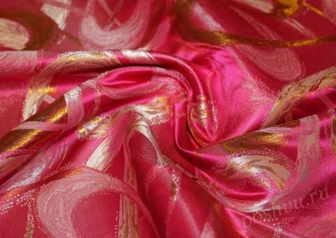 Ткань парчовая Гортензиевая