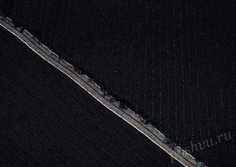 Ткань льняная черная