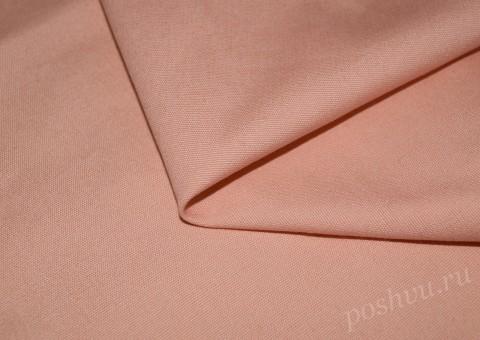 Ткань льняная персикового цвета