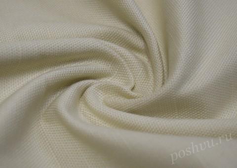 Ткань льняная молочного цвета 240гр/м