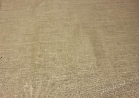 Ткань льняная песочного оттенка