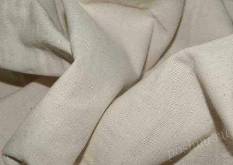 Ткань льняная Белого цвета