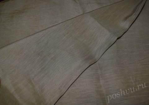 Ткань льняная серо-бежевая