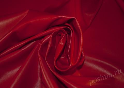 Ткань экокожа Красная шапочка