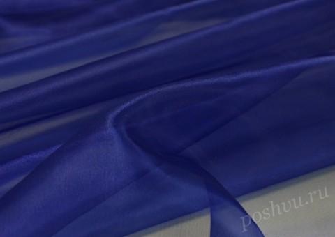 Ткань органза Темно-синего цвета