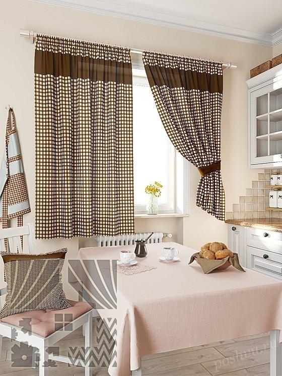 Шторы для коричневой кухни