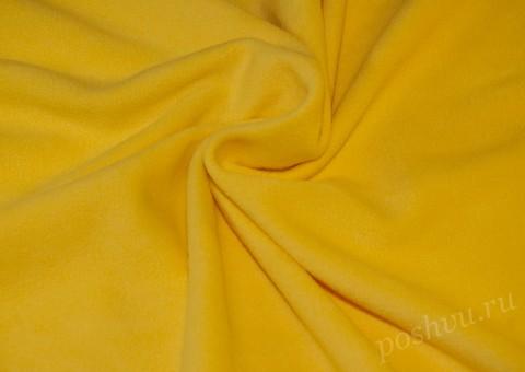 Флис однотонный желтого цвета 190гр/м