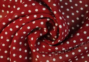 3788f032200 Ткань шифон в горошек купить в интернет магазине Пошву