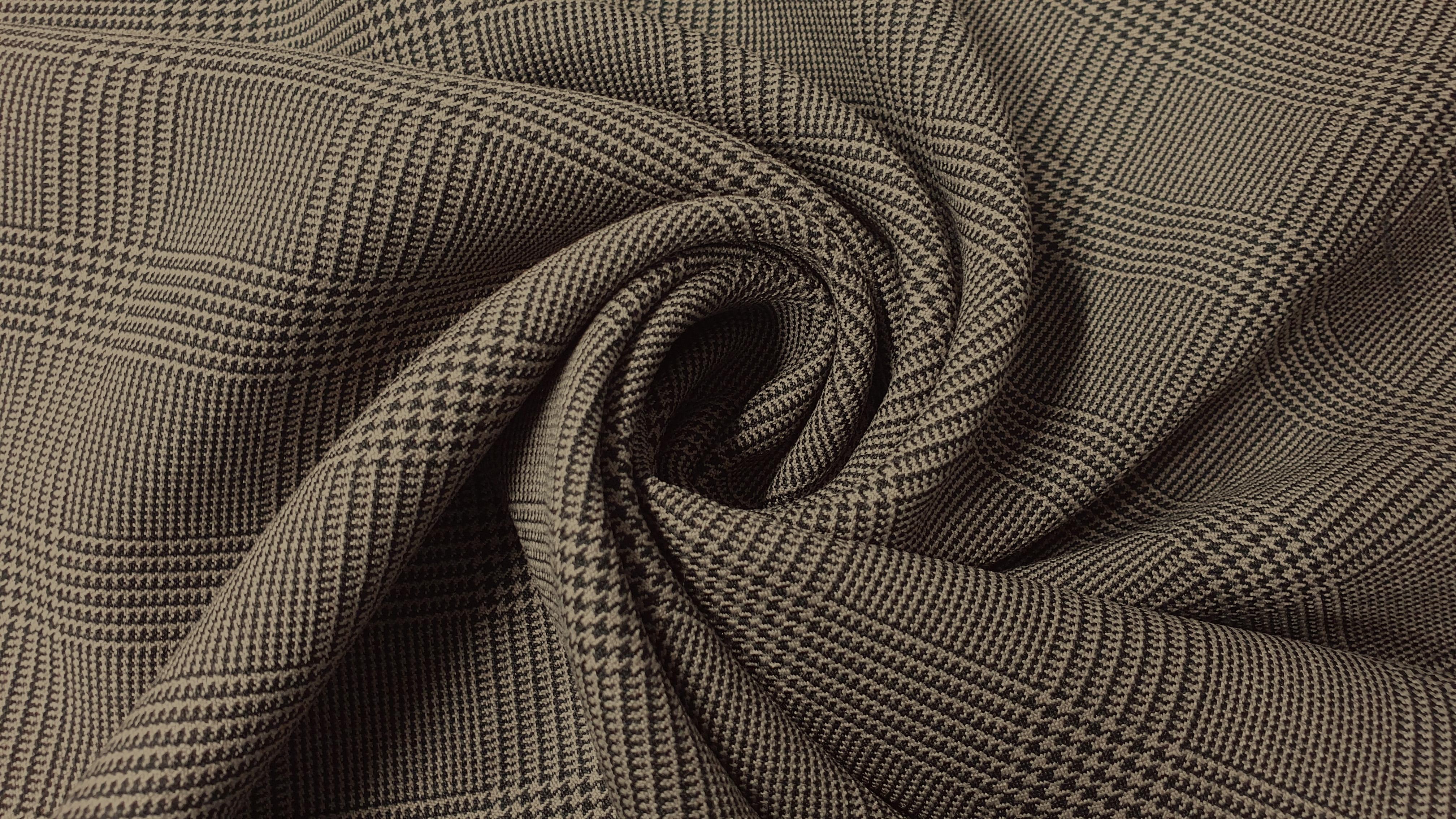 Костюмная клетка fuhua принц уэльский песочная купить по низкой цене в  интернет магазине, костюмная ткань с принтом в цвете
