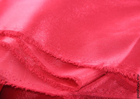 Ткань креп-сатин Алая заря