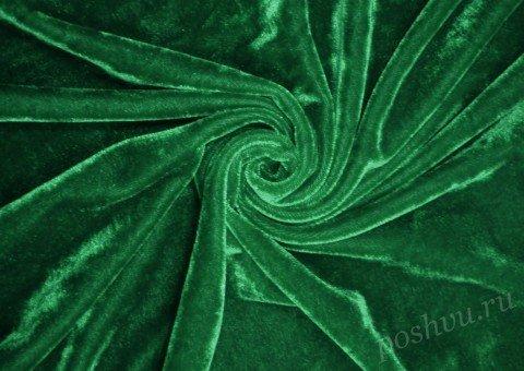 "Бархат стрейч ""Pandora"" Зеленый"