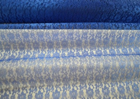 Ткань гипюр синий Греция