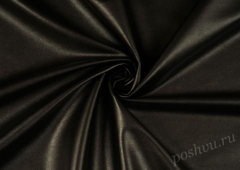 Ткань экокожа Чернее ночи