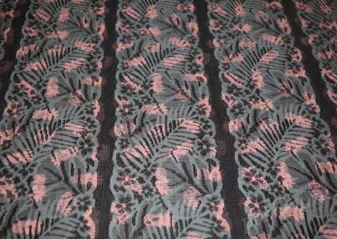 Гипюр-стрейч серого цвета с ананасами