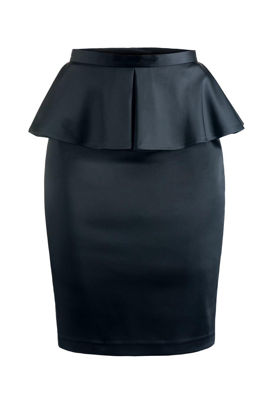фото юбки из атласа