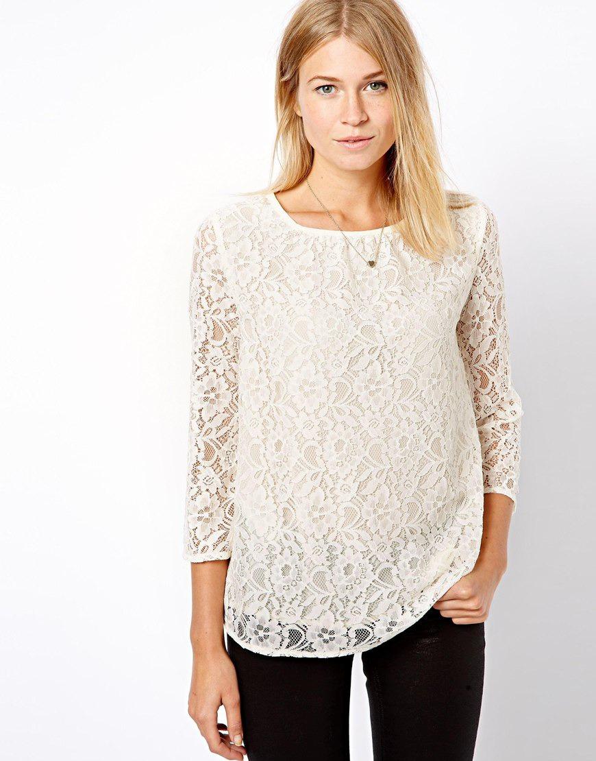 a2518d5337f Белая гипюровая блузка Оригинальная ...