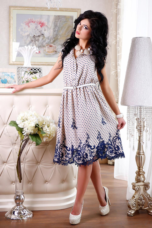 украсить летнее платье кружевом
