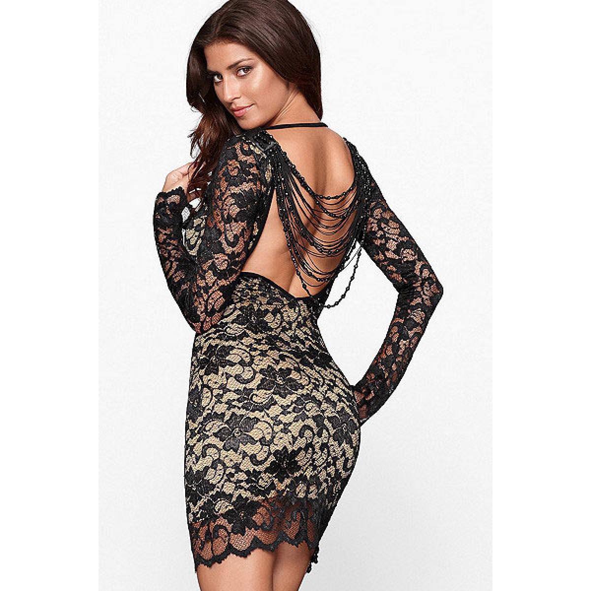 Платье из кружева-стрейч