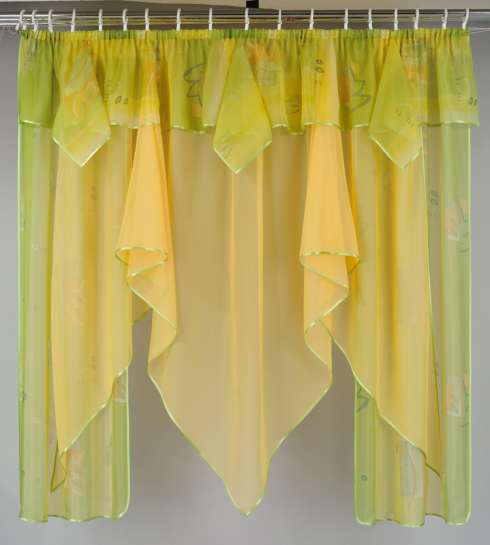Сшить шторы для кухни из вуали
